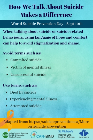 How We Talk About Suicide Makes a Difference