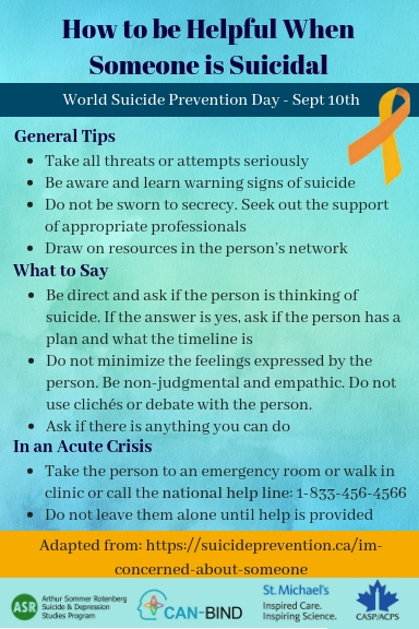 How To Be Helpful When Someone is Suicidal